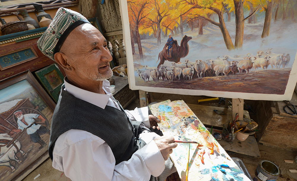農民畫家阿卜力克木追夢六十載